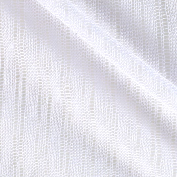 White Collection Open Weave Sweater Knit Stark White