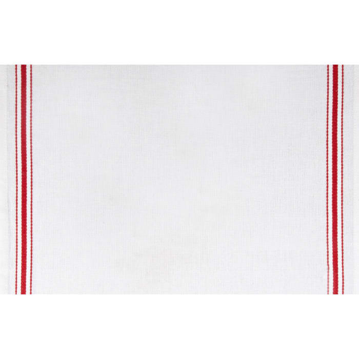 Moda Toweling Christmas Stripe White/Red