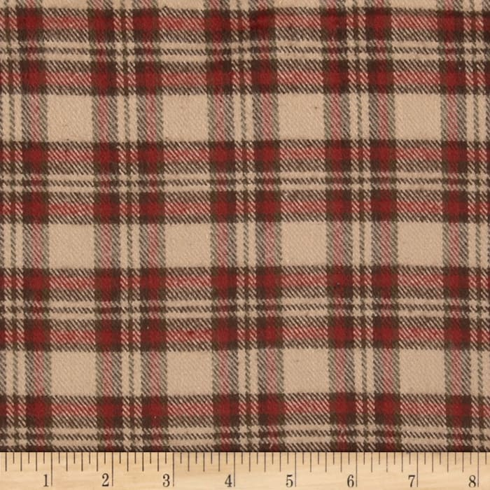 Primo Plaids V Flannel Medium Plaid Brown/Red