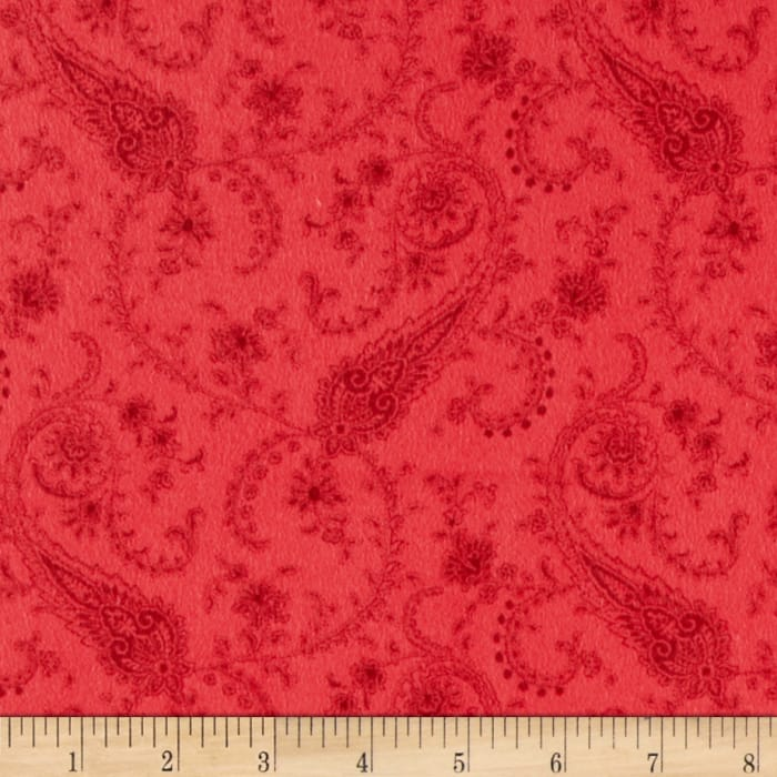 American Bouquet Flannel Small Paisley Burgundy