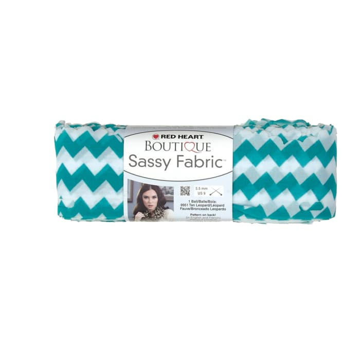 Red Heart Yarn Boutique Sassy Fabric Teal Chevron