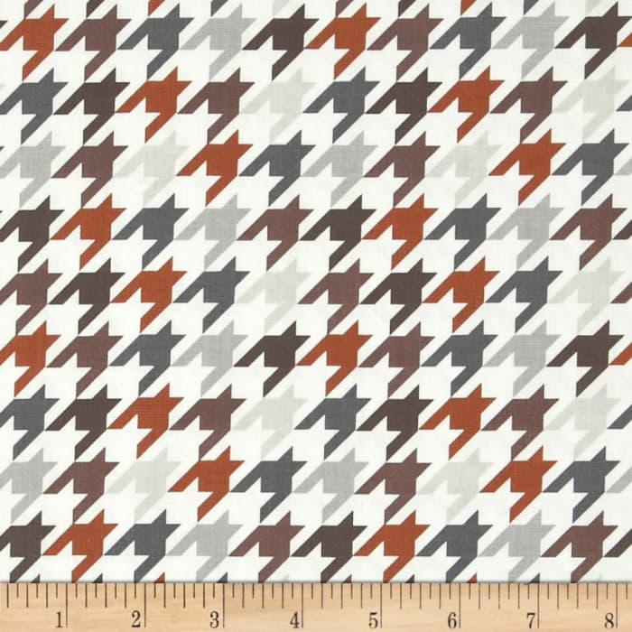 Riley Blake Medium Houndstooth Brown/Grey