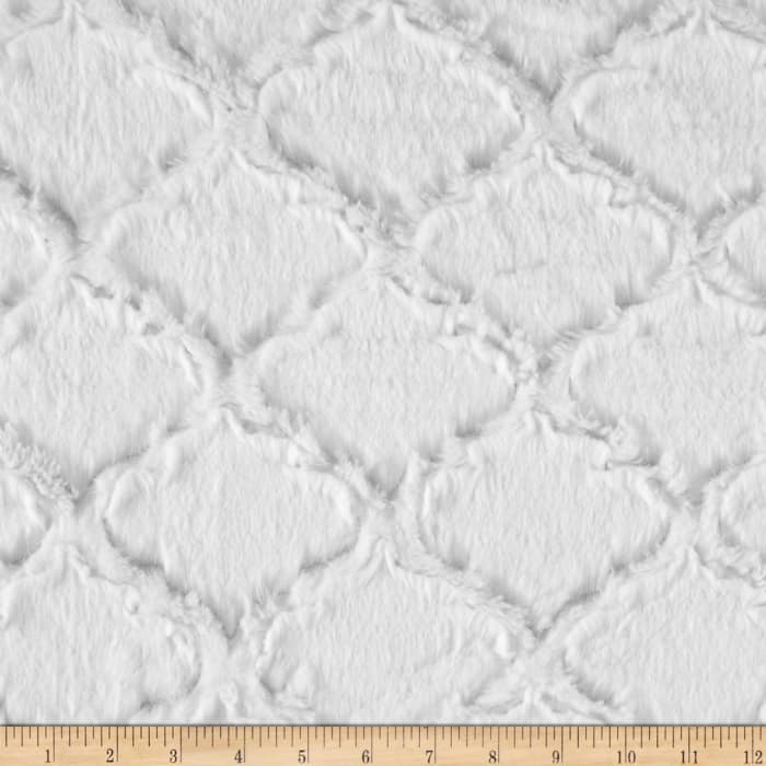 Shannon Minky Soft Lattice Cuddle Snow