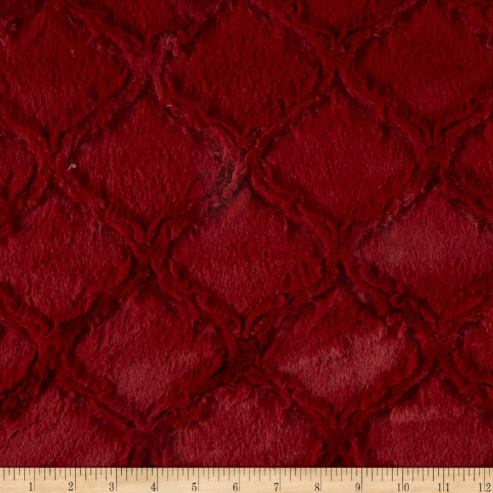 Shannon Minky Luxe Cuddle Lattice Garnet