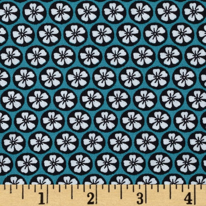 Juno Small Set Flower Teal Black
