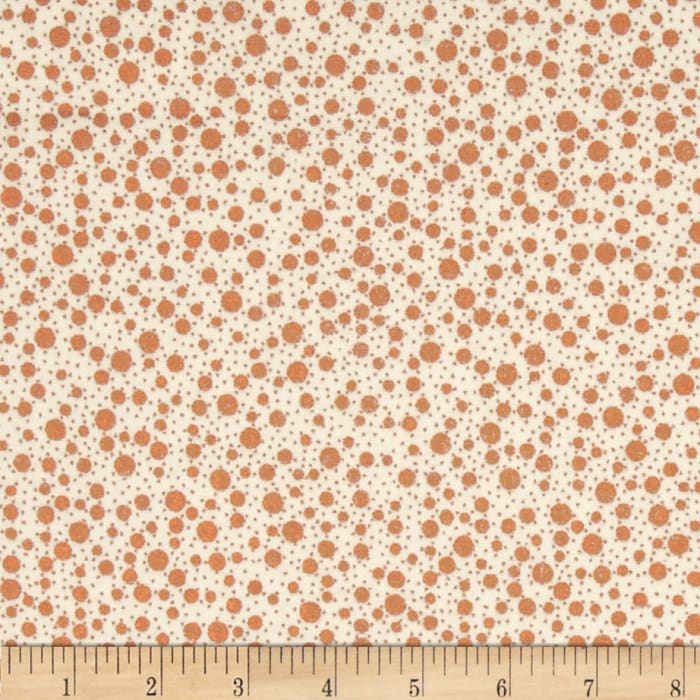 Metals Mixed Dots Cream/Copper