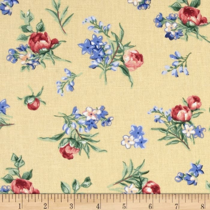 Georgette Home Decor Chintz Floral Yellow