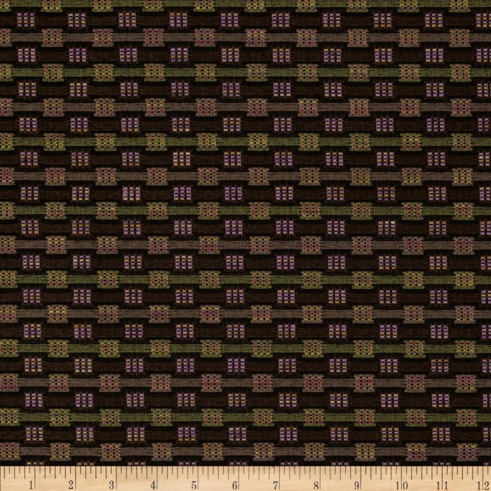 Robert Allen Promo Three By Three Upholstery Jacquard Brown
