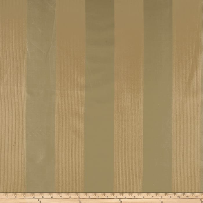 Robert Allen Promo Channel Silk Stripe Jacquard Antique Willow