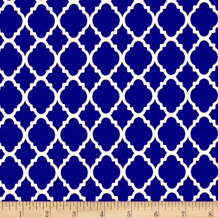 Quatrefoil Royal/White