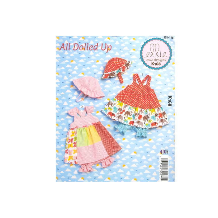 Ellie Mae Designs All Dolled Up Baby Dress, Bloomer & Hat Pattern