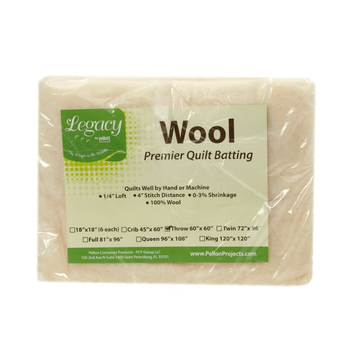 Pellon Wool Batting Throw 60