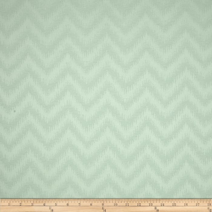 Waverly Peaks Solid Chevron Damask Mist