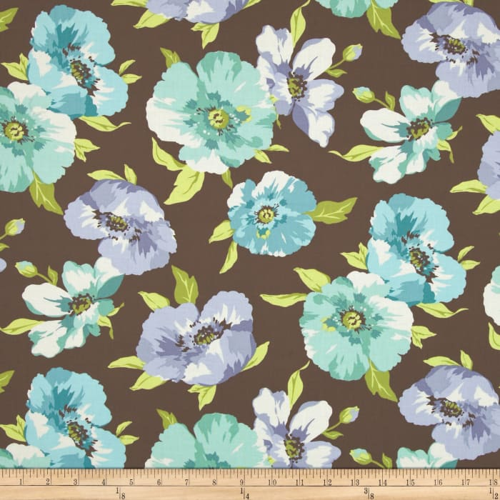 Breeze Large Tossed Floral Brown