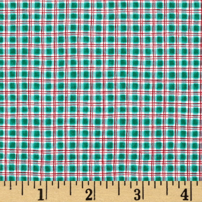 Jingle All the Way Sleigh Bell Plaid Teal