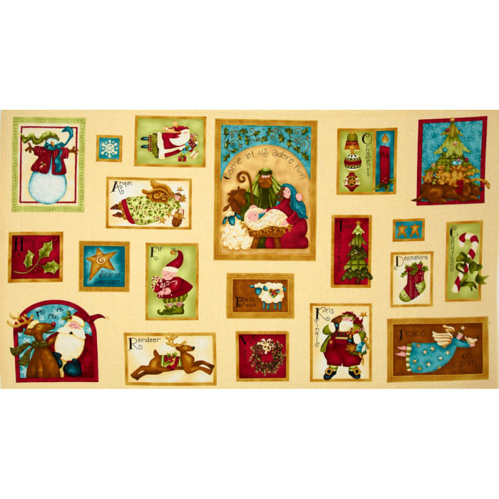 Nancy's Holiday Favorites Greeting Cards Panel Buttercream
