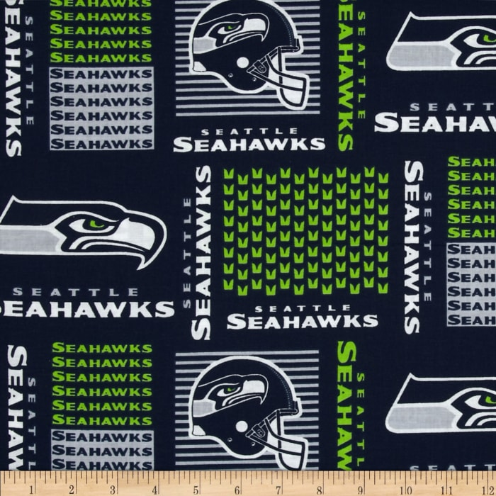 Nfl Cotton Broadcloth Seattle Seahawks Discount Designer