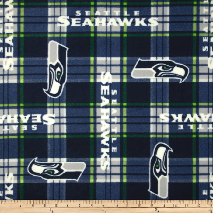 NFL Fleece Seattle Seahawks Plaid
