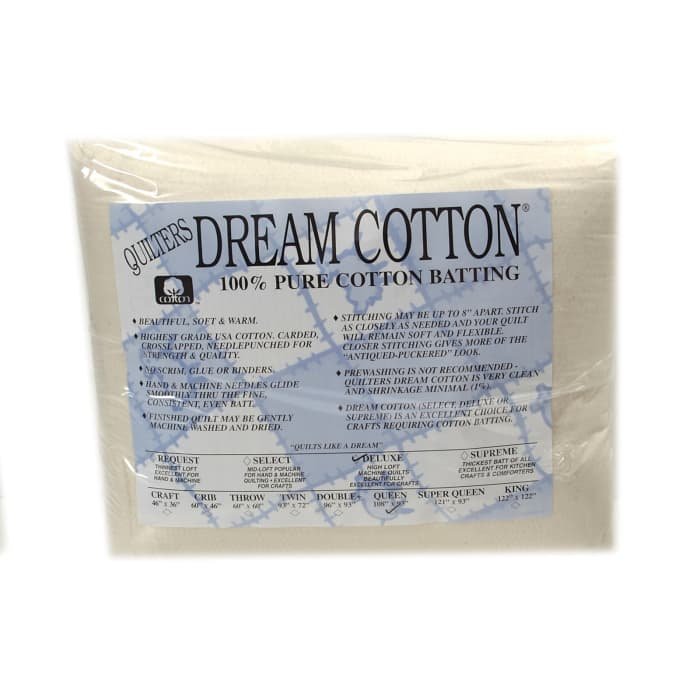 "Quilter's Dream Natural Cotton Deluxe Batting (108"" x 93"") Queen"