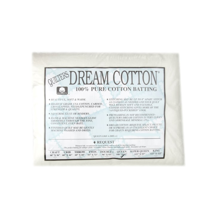 Quilter's Dream Natural Cotton White Request Batting (108