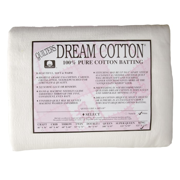 Quilter's Dream Natural Cotton White Select Batting (122