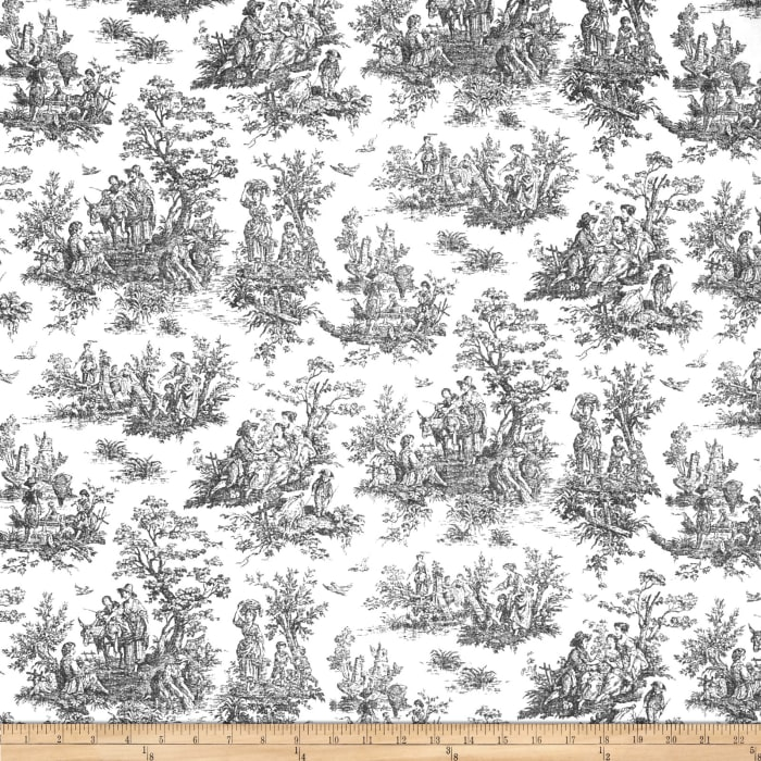 Premier Prints Jamestown Toile Black