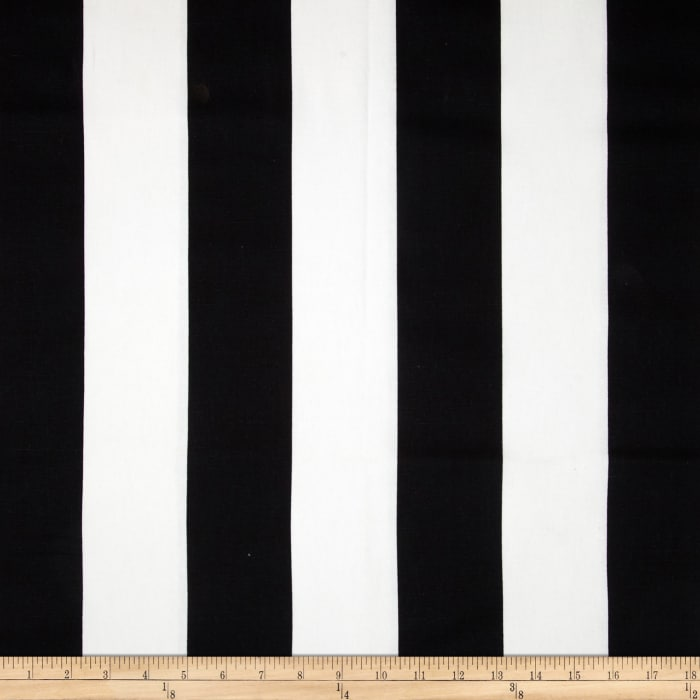 Premier Prints Vertical Stripe Black/White