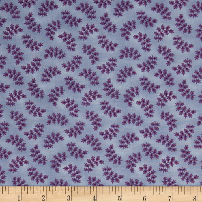 Americana Collection Tossed Fern Blue/Purple