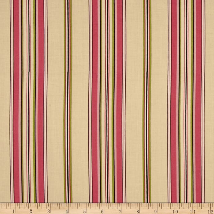 Mayfair Wide Stripe Beige/Pink