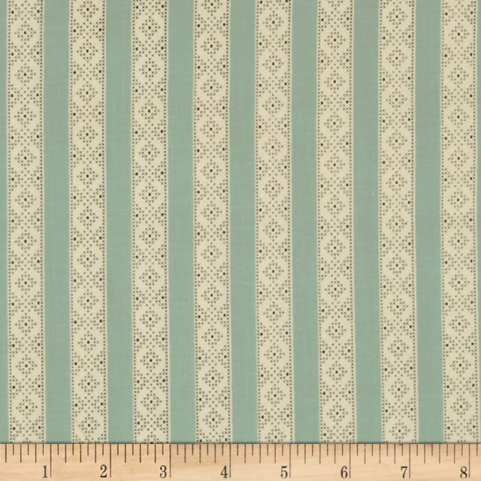 Make Do and Mend Needlepoint Stripe Blue