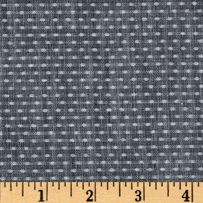 Kaufman Chambray Union Dots Indigo