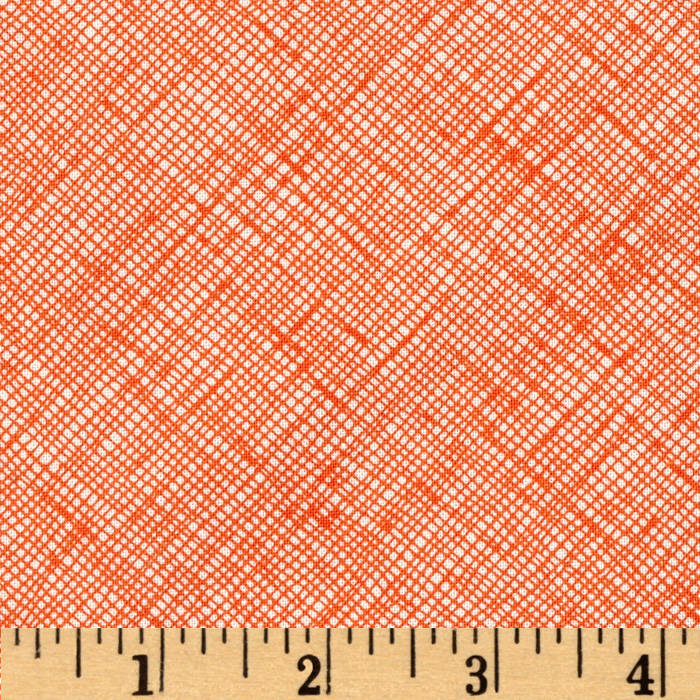 Architextures Grid Plaid Tangerine