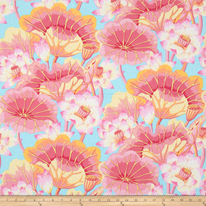 Kaffe Fassett Collective Lake Blossoms Pink