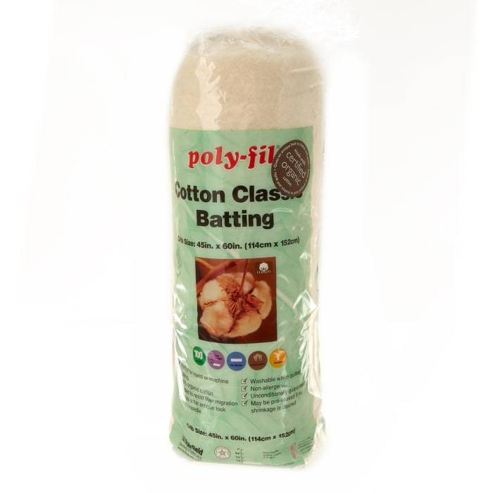 Fairfield Organic Cotton Classic Batting Crib 45