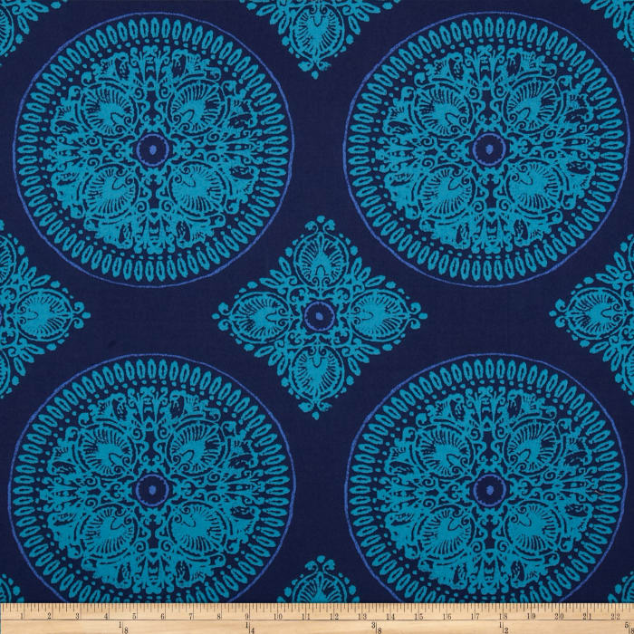 Ty Pennington Home Decor Sateen Fall 11 Medallion Navy