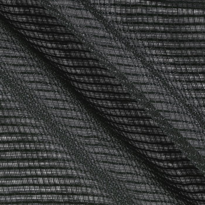 Eroica Check It Open Weave Sheer Graphite