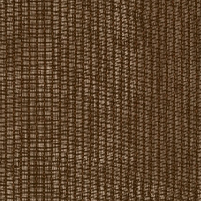 Eroica Check It Open Weave Sheer Brown