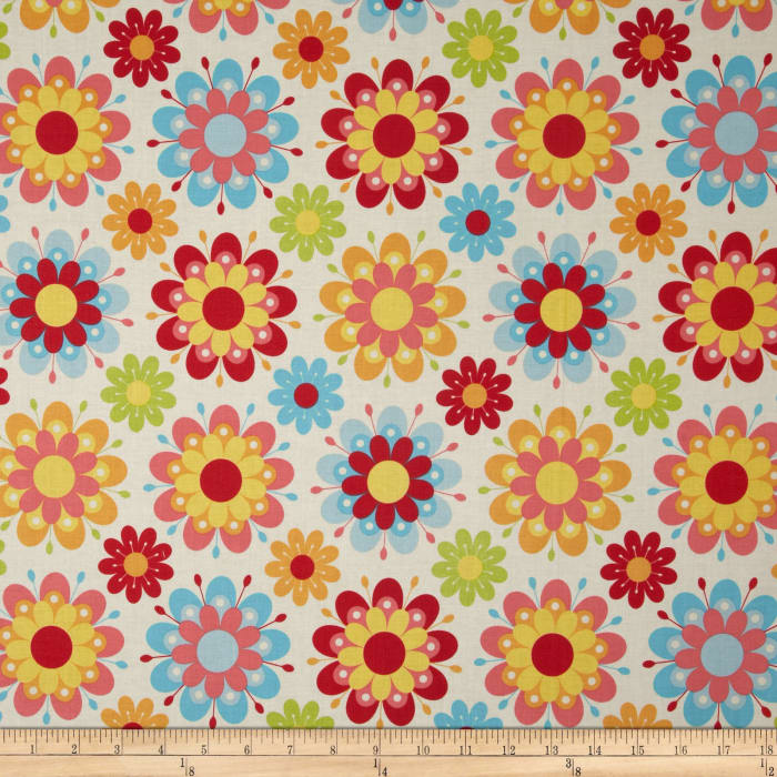 Riley Blake Just Dreamy 2 Large Floral Cream