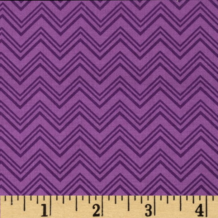 Silly Gilly & Friends Chevron Purple