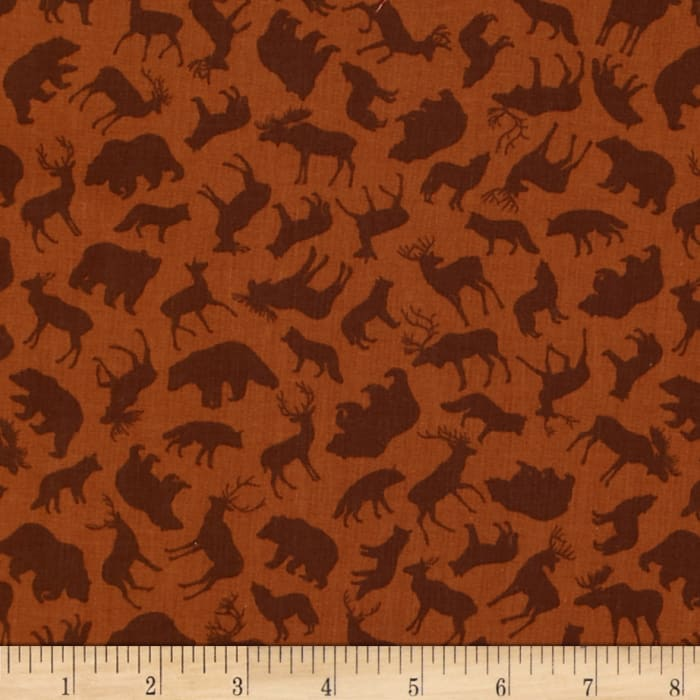 Kanvas Trail Mix Forest Animals Rust