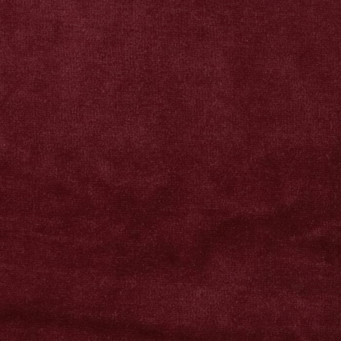 Cotton Poly Terry Velour Knit Wine Red