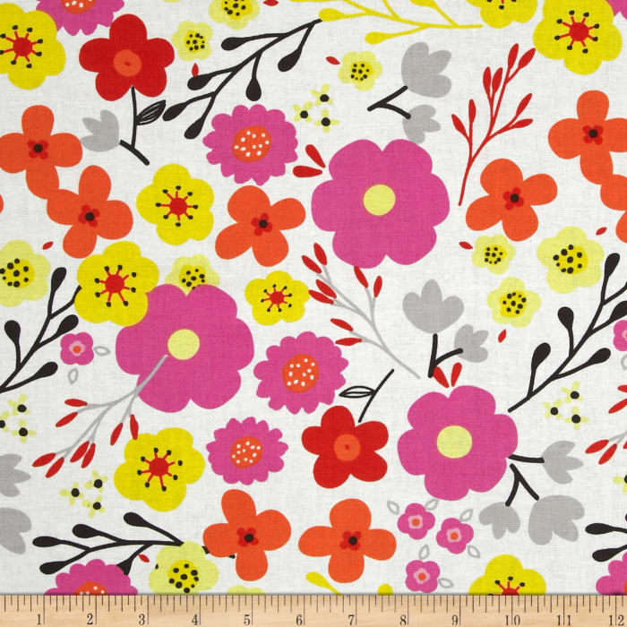 Valencia Large Floral White