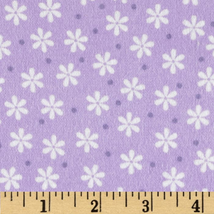 Cozy Cotton Flannel Floral Lavender