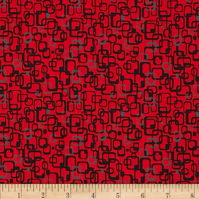 Graphix 3 Link Squares Red/Grey