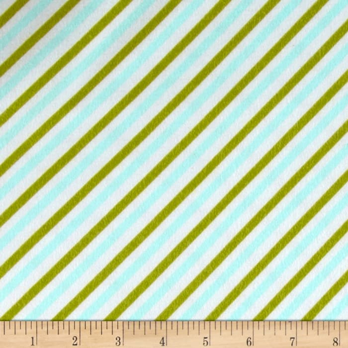 Riley Blake Oh Boy! Flannel Stripe Aqua