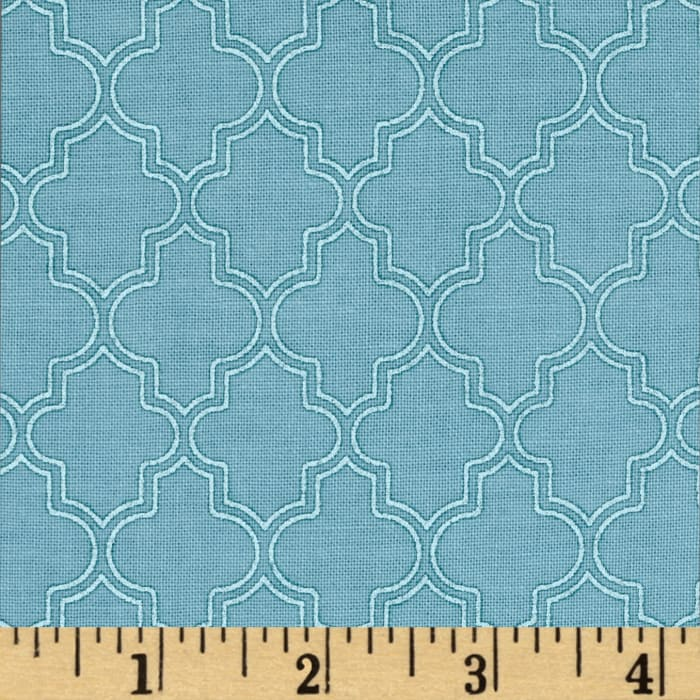 Pearl Essence Quatrefoil Blue Green