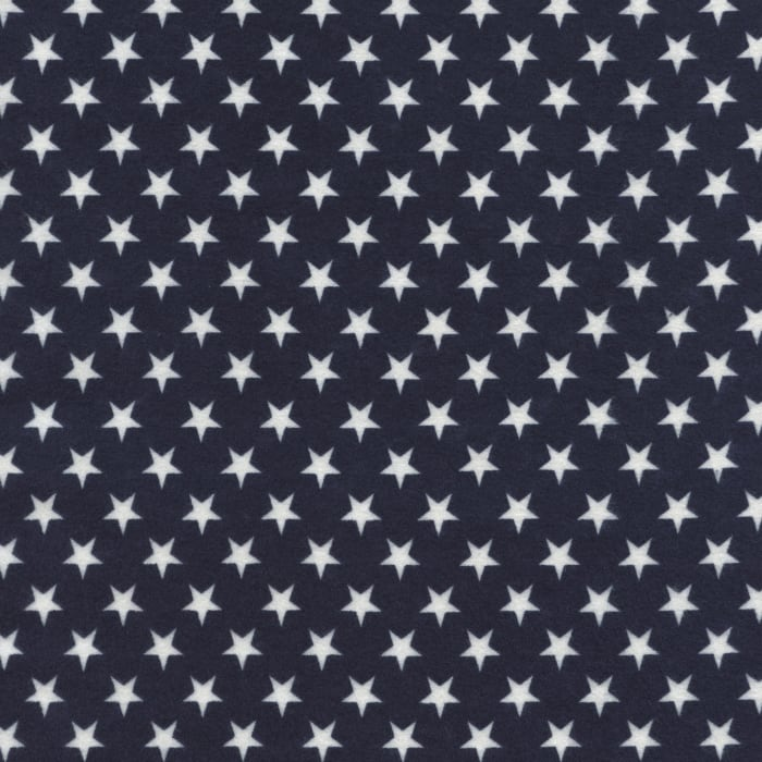 Timeless Treasures Flannel Stars Blue