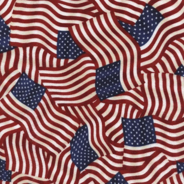 Timeless Treasures Flannel Flags USA
