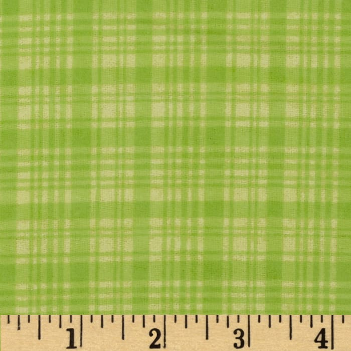 Comfy Flannel Plaid Tone on Tone Green