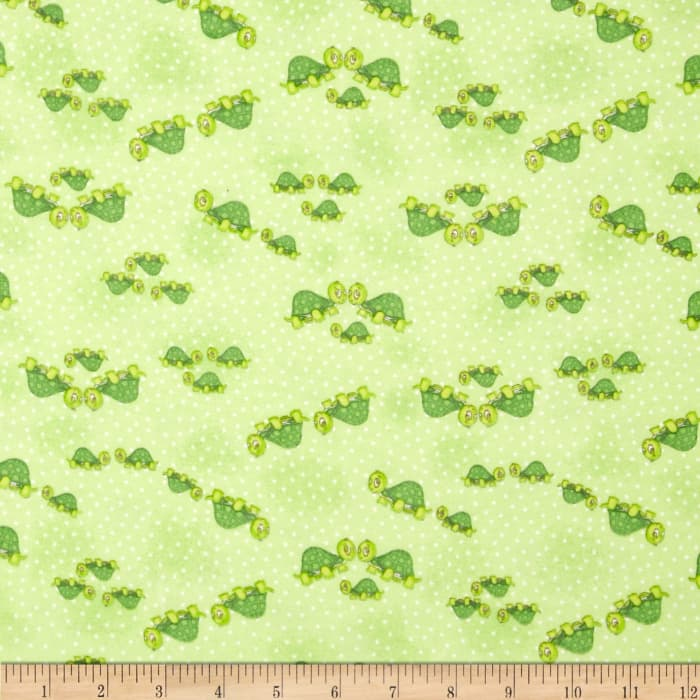 Comfy Flannel Turtle Family Green